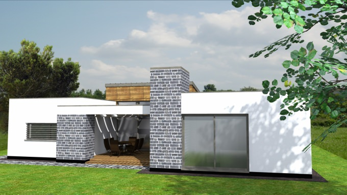 Modern átriumház tervezése